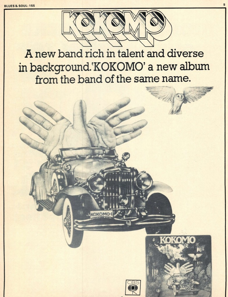 Kokomo First Ad from Blues ns Soul 4th March 1975